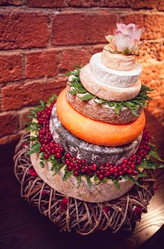 Cheese wedding cake. I will NEED this someday!