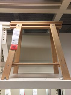 "$40 ikea trestle  Width: 18 1/8 "" Depth: 27 1/2 "" Min. height: 28 "" Max. height: 36 5/8 "" with shelf FINNVARD Trestle with shelf, birch"