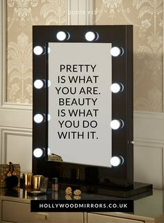 Diy vanity mirror with lights for bathroom and makeup station angelina hollywood mirror in black gloss 80 x 60cm makeup vanity mirrorhollywood vanity mirrorlighted aloadofball Gallery
