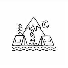 Camping Buddies #adventure#tents#drawing#art#doodle#camping#roam#shop#nature#nice#moon#campfire