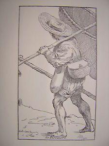 Le arti di Bologna di Annibale Carracci - Pescatore | eBay