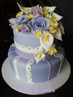 COMUNIONE cake with calla lilies by torte di nadia, via Flickr