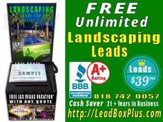 <b>Landscaping Lead Generation, http://LeadBoxPlus.com , info@leadBoxPlus.com  , (818) 742-0057