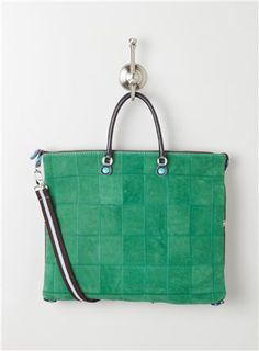 Large Leather/Fab Patchwork: $119.99