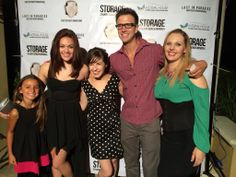 Katherine Norland (far right) on the red carpet at the Storage film premiere.