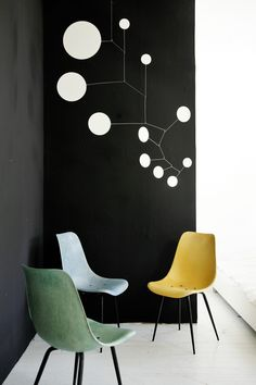 Customers wish. the dot Mobile 120cm x90cm in white. Hanging Mobile by Lappalainen.
