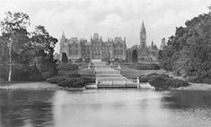 Eaton Hall demolished in 1961 via Lost Heritage - a memorial to the lost country houses of England Eaton Hall, Victorian Castle, Cheshire England, British Architecture, Castle House, French Chateau, Country Estate, Historic Homes, Westminster