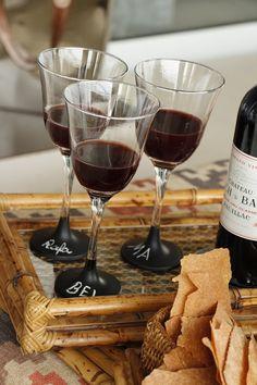 chalkboard, glass, cup, apperitizies, mesa de aperitivos, queijos e vinhos, diy, taça chalkboard