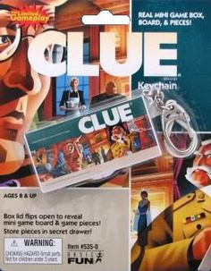 Clue Board Game Keychain By Basic Fun « Game Searches