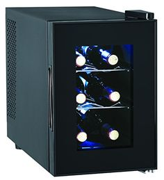 Best Wine Rack | 6Bottle Wine Cooler Glass Door ** Details can be found by clicking on the image. Note:It is Affiliate Link to Amazon. #commentsplease