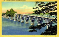Here are 10 rare photos and postcards from Oregon that will take you straight to the past. Southern Oregon Coast, Oregon Waterfalls, Coos Bay, Evergreen Forest, Central Oregon, North Bend, Covered Bridges, Rare Photos, Vintage Pictures