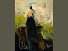 Paintings by Artist Kathy Jones, Walking the Dog