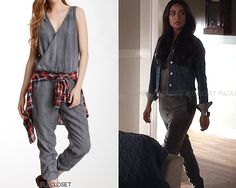 """pllcloset: """" Also available (in Blue) for $50.00 HERE or $94.00 HERE. Velvet Heart 'Athena Jumpsuit' - $49.99 (wrong colors) Worn with: Zara jacket, Steve Madden shoes """""""