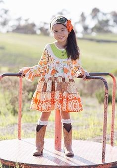 Fall 2014 Giggle Moon Thankful Hearts Party Dress Pre-order 2 to 8 Years