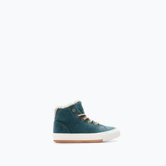 Image 1 of LINED LEATHER SNEAKER from Zara