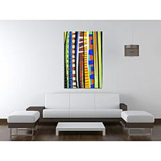 @Overstock - Introduce a striking focal point to any room with this colorful contemporary wall art by Maxwell Dickson. - $125.99