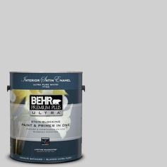 BEHR Premium Plus Ultra 1-gal. #N520-1 White Metal Satin Enamel Interior Paint