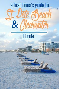 A First Timer's Guide to St. Pete Beach and Clearwater, Florida: Where to Visit, Eat, Shop, and Sleep. Visit Florida, Florida Vacation, Florida Travel, Vacation Spots, Travel Usa, Vacation Ideas, Florida Living, Florida Trips, Vacation Places