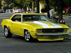 Yellow 1969 Camaro