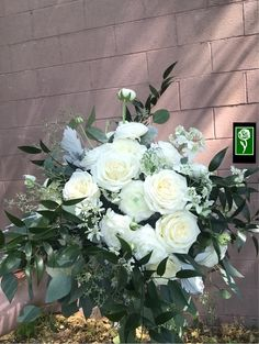 Forest green and white wedding