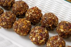 """Raw Double """"Coco"""" Cranberry Drops.  I never knew about raw balls until I became vegan... they are so good. Raw balls. haha"""