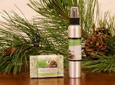 Invite the essence of the Rocky Mountains into your home this season with our limited edition Whispering Pine bar soap & room spray.
