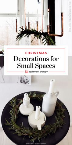 10 Simple Christmas Decorating Ideas for Small Spaces |If you love decorating for the holidays, but the idea of fitting an 8' tree in your tiny apartment seems more fantastic than a visit from Santa, these ideas for holiday decorations with a small footprint might be just the thing.
