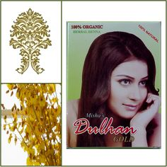 100% Natural Dulhan Henna Hair Dye Powder. 100g box. Golden Color. ** Check out the image by visiting the link.