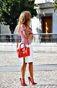 Tendencias 2014: look marinero en rojo