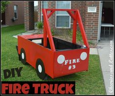 DIY Fire Truck - too cool! What a great way to reuse large boxes!