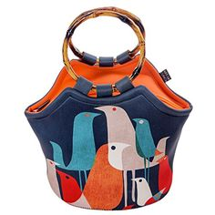 Kids' Lunch Bags - Large Neoprene Lunch Bag Purse by ART OF LUNCH  11 X 15 X 6 Reusable Insulated Lunch Bag with Added Inside Pocket  Design by Budi Kwan Indonesia  Flock of Birds ** For more information, visit image link.
