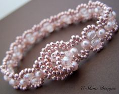 Pink Lace Bracelet with Hand Crafted Clasp