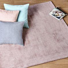 Tansen - Tapis-Textiles, Tapis Tapis en viscose rose poudre - 160x230cm