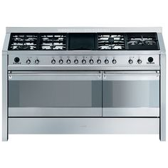 Buy Smeg A5-8 Range Cooker, Stainless Steel Online at johnlewis.com