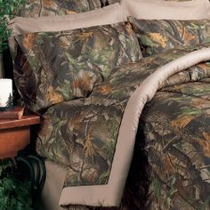 camouflage house decor | Real Tree Camo Hardwoods Camo Bedding