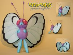 Paperpokés - Pokémon Papercrafts: BUTTERFREE - Pokemon Papercraft