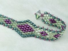 Serpent Song Bracelet with superduos ~ Seed Bead Tutorials