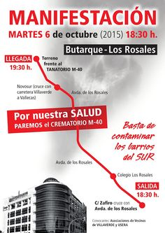 Gente de Villaverde: MANIFESTACIÓN ESTE MARTES. ¡ ACUDE !
