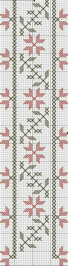 This Pin was discovered by Sal Cross Stitch Borders, Cross Stitch Designs, Cross Stitching, Cross Stitch Patterns, Hardanger Embroidery, Cross Stitch Embroidery, Embroidery Patterns, Hand Embroidery, Blackwork