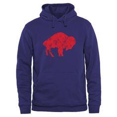 Men's Buffalo Bills NFL Pro Line Royal Throwback Logo Pullover Hoodie Sweatshirt #ad