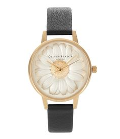 Flower Shower 3D Daisy Black Gold Horloges Olivia Burton