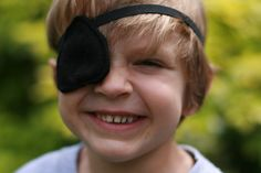 Pirate eye patch   felt accessory  pirate costume by Whimsywerks, $6.00