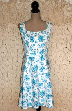 Sleeveless Dress Floral Dress Blue India Block by MagpieandOtis
