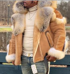 Suede Coat, Fur Coat, Suede Leather, Leather Coats, Shearling Jacket, Black Leather, Mens Fur, Fur Collars, Winter Fashion