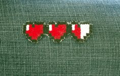 Heart Meter Iron On Patch.