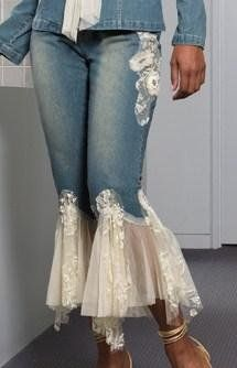 jeans, I would make them to sell... but I don't think I could pull off this look..I do love it though!