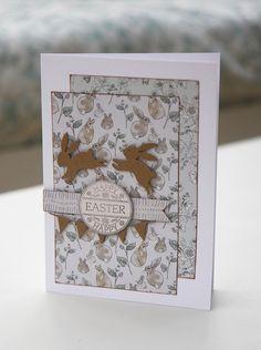 English Garden Easter Bunny Card by StickerKitten