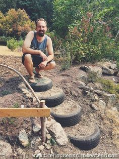 Find out how to apply the princi ples of permaculture to your own garden, homestead and life. Learn the ethics and design principles behind permaculture design and see how you can benefit from permaculture in your own backyard. Tire Garden, Garden Care, Garden Paths, Garden Beds, Permaculture Design, Permaculture Principles, Permaculture Garden, Outdoor Projects, Garden Projects