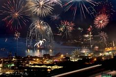 Fireworks in Cayucos, California
