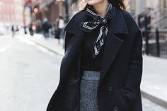 New_york_Fashion_Week-NYFW-Knitted_Trousers-Culottes-Bandana_Scarf-Sita_Murt_Coat-Michael_Kors_Fall_15-Clare_Vivier-Street_Style-Collage_VIntage-18